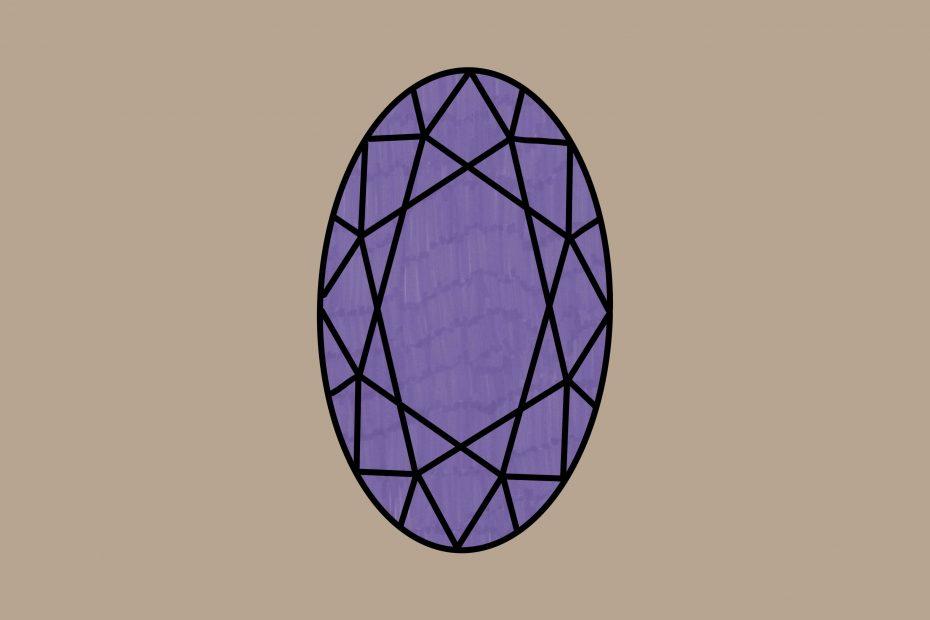 Juweeltje paars